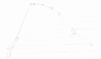 釣り竿の絵